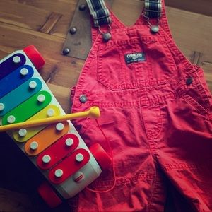 Adorable OshKosh Canvas Strap Overalls
